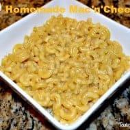 Super Easy Homemade Mac'n'Cheese
