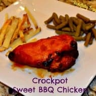 Crockpot Sweet BBQ Chicken & Tasty Tuesdays Link Party