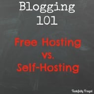 Blogging 101: Free Hosting vs. Self Hosting