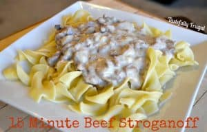15 Minute Beef Stroganoff. For those nights you don't have time to cook a 3 course meal