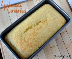 Applesauce Cornbread. Moist and Dense. Perfect to pair with chili!
