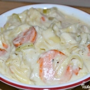 Creamy Slow Cooker Chicken Noodle Soup
