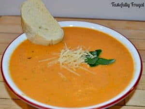 Rich & Creamy Tomato Basil Soup in the Crockpot