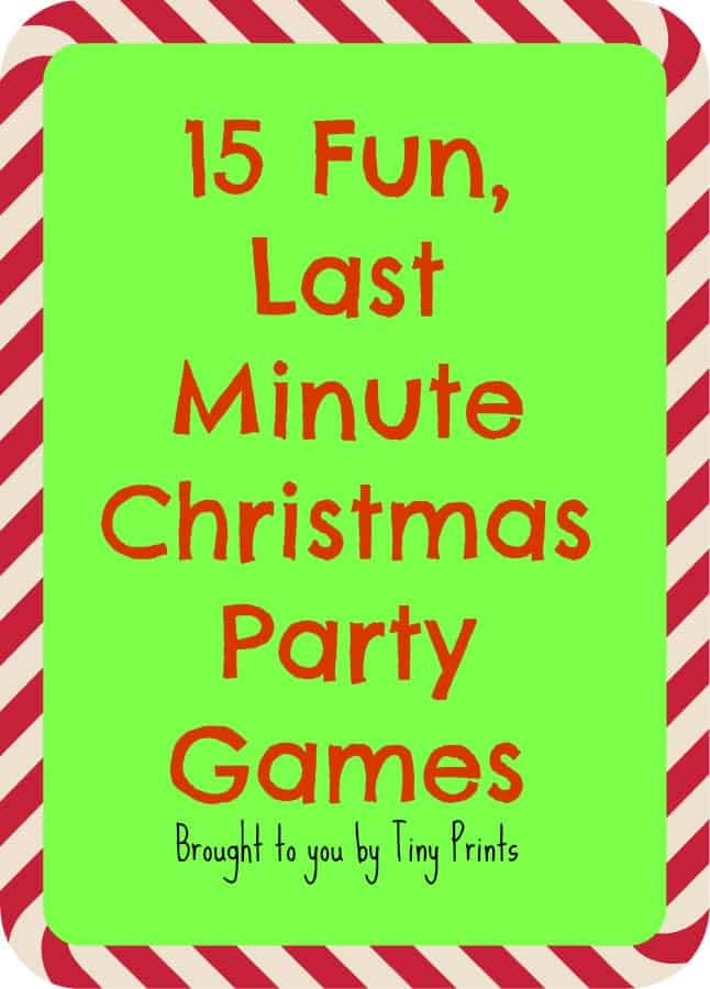 fun last minute christmas party games - Family Games To Play At Christmas