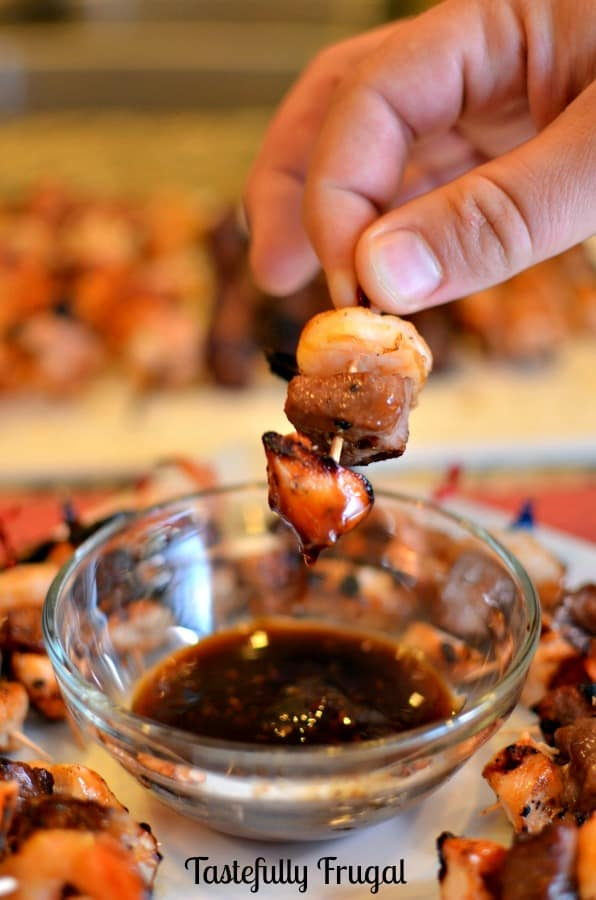 Teriyaki Shrimp, Steak & Shrimp Kabobs: A New Year's Eve Treat