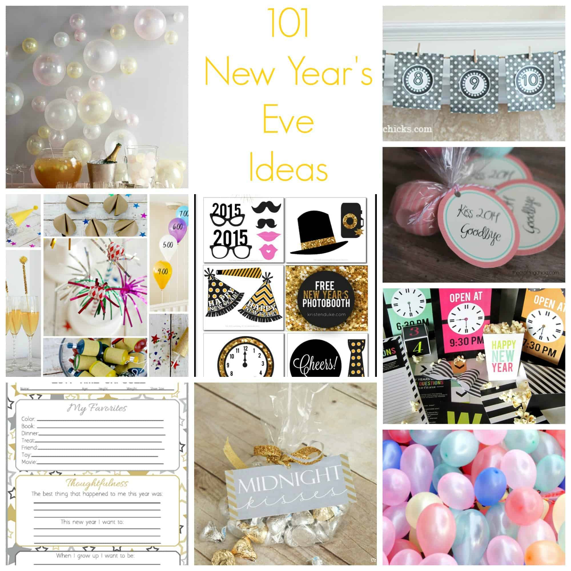 101 New Year's Eve Ideas