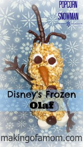 Olaf Popcorn Snowman from Making Of A Mom