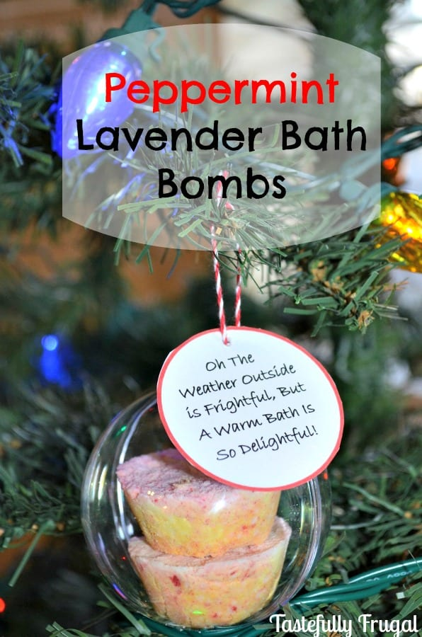 12 Frugal Days of Christmas Day 2: Peppermint Lavender Bath Bombs