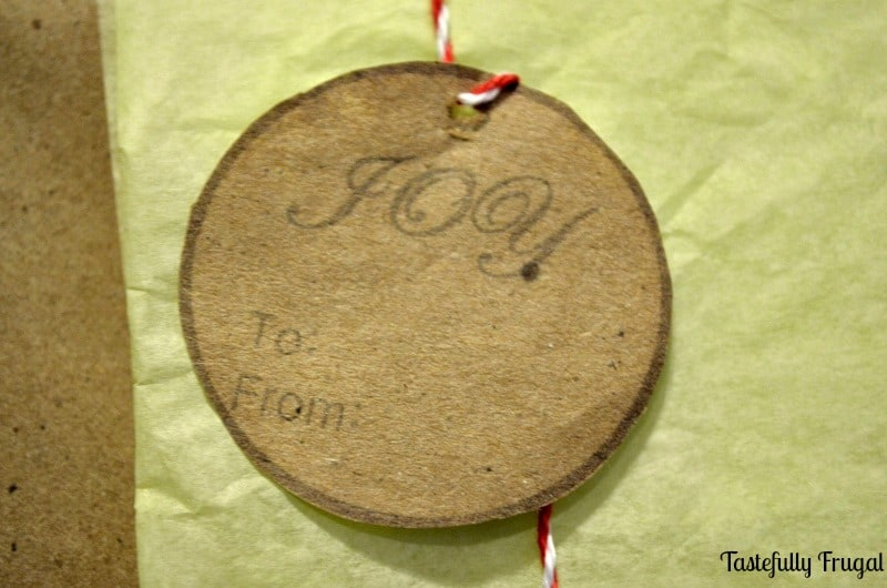 12 Frugal Days of Christmas Day 4: Kraft Paper Gift Tags & Christmas Stickers