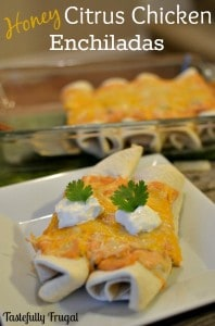Honey Citrus Chicken Enchiladas: Monthly Ingredient Challenge