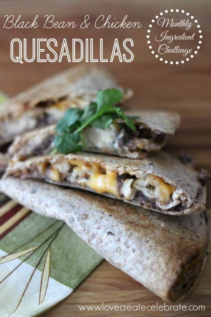 Black Bean Chicken Quesadillas