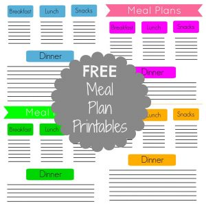 FREE Meal Plan Printables & Two Weeks of Meals