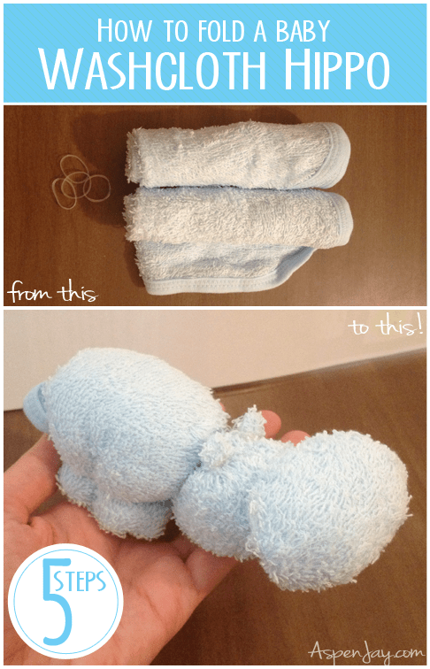 How To Fold A Hippo Washcloth