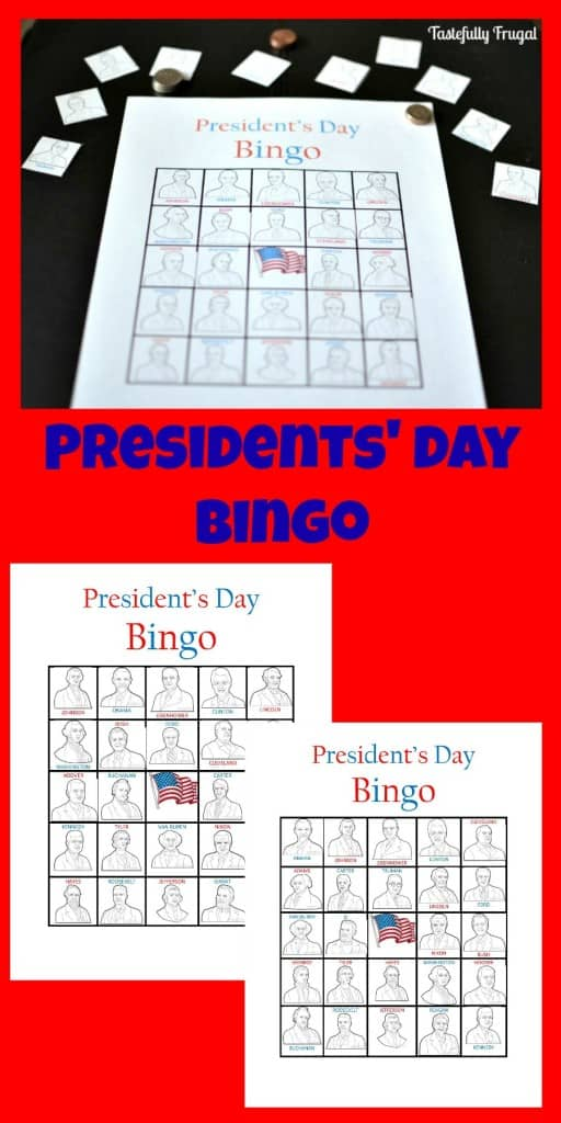 Presidents' Day Bingo