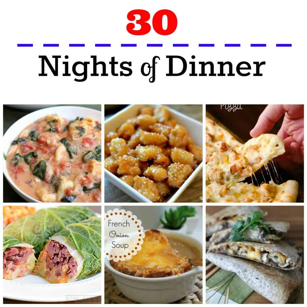 Don't fall in the rut of eating out every night. Get 30 days of meal inspiration here.