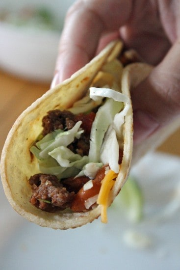 Chipotle Beef and Bean Tacos