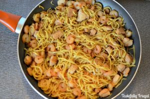 15 Minute Chicken & Shrimp Chow Mein: A fast, healthy(ish) alternative to Panda Express