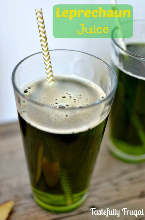 Leprechaun Juice: A bubbly, sweet {non-alcoholic} drink. What leprechauns drink to get energy