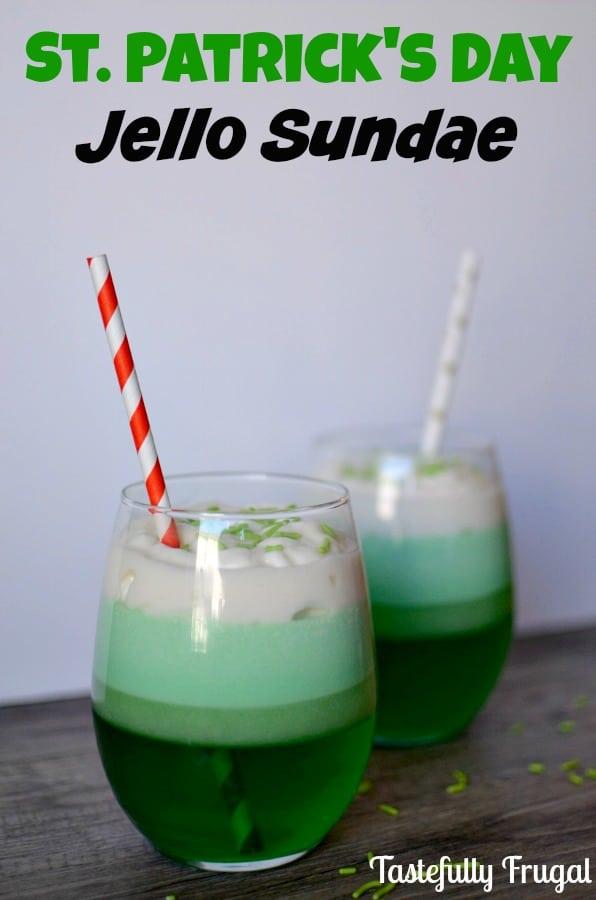 St. Patrick's Day Jello Sundae: A quick and easy treat