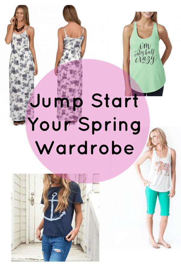 Jump Start Your Spring Wardrobe: If you are in need of some new spring outfits you are not going to want to miss this deal!