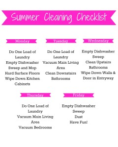 Keep your home clean this summer in just 20 minutes a day with Fabuloso® All Purpose Cleaner and this free printable! #MiFabuloso #ad #CollectiveBias