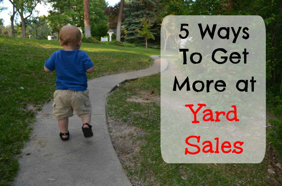 5 Ways To Get The Most Bang For Your Buck When Shopping Yard Sales