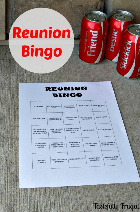 Print this bingo game for your next reunion for loads of fun and to get to know each other again. #ShareItForward #CollectiveBias #ad