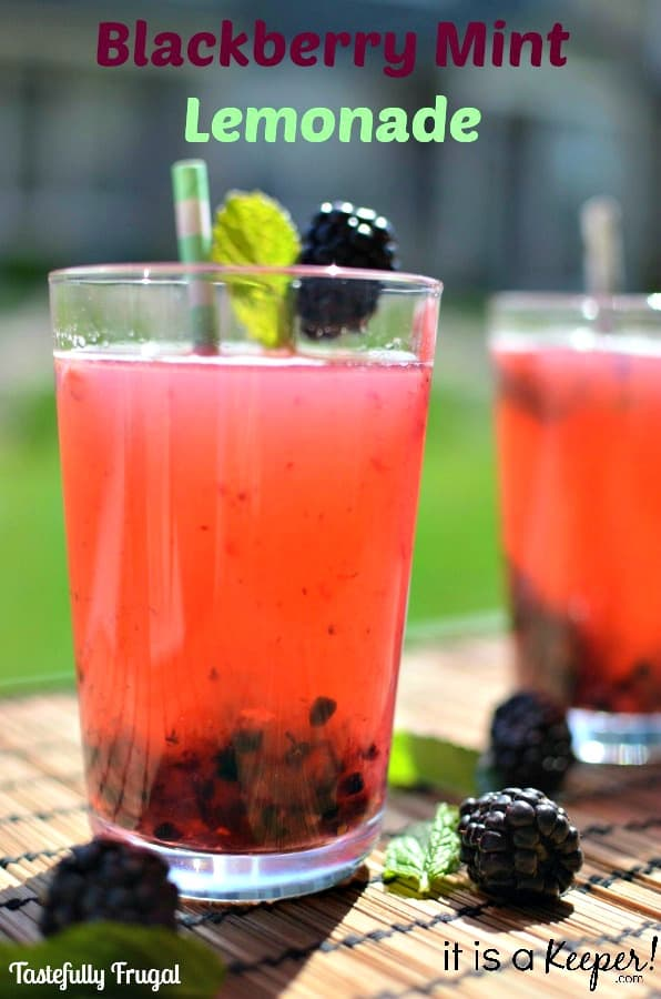Blackberry Mint Lemonade www.tastefullyfrugal.org