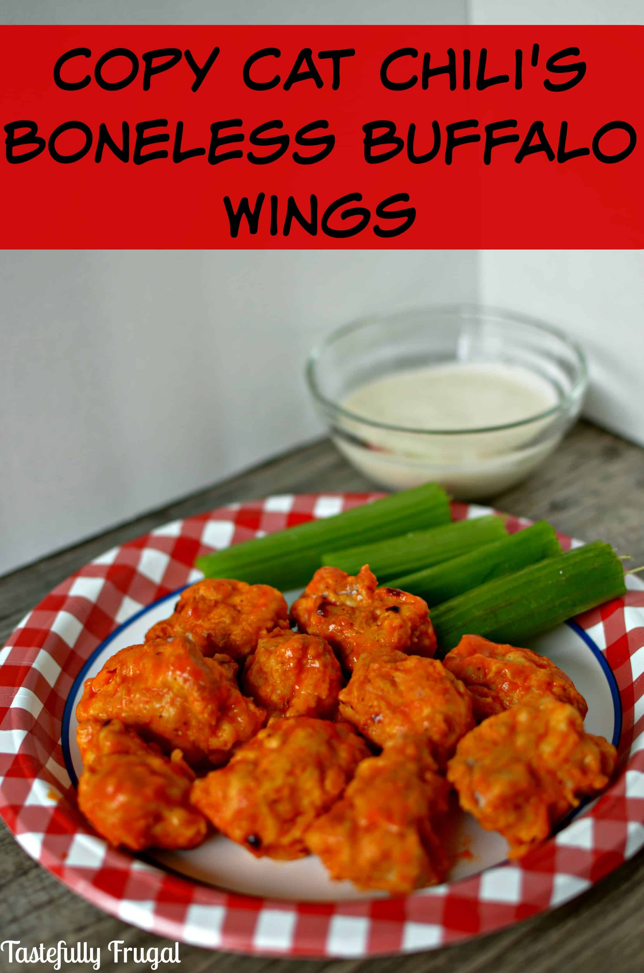 Try the healthier version of Chili's Boneless Buffalo Wings at home.