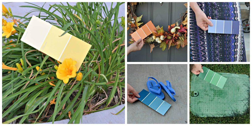 Paint Swatch Scavenger Hunt www.tastefullyfrugal.org