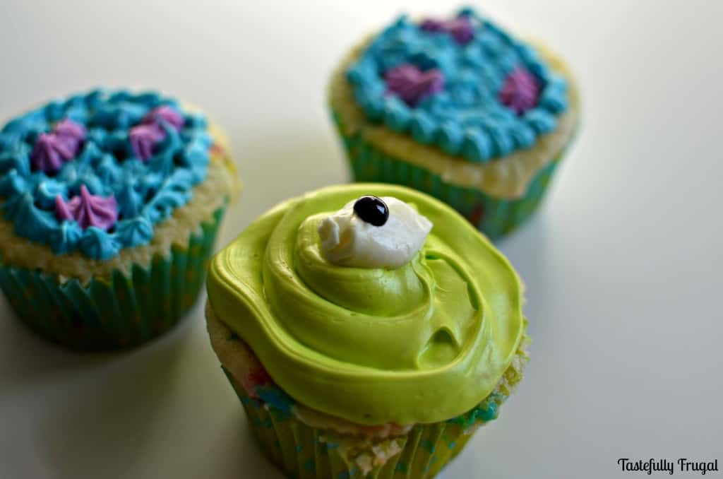 Monsters Inc. Cupcakes www.tastefullyfrugal.org
