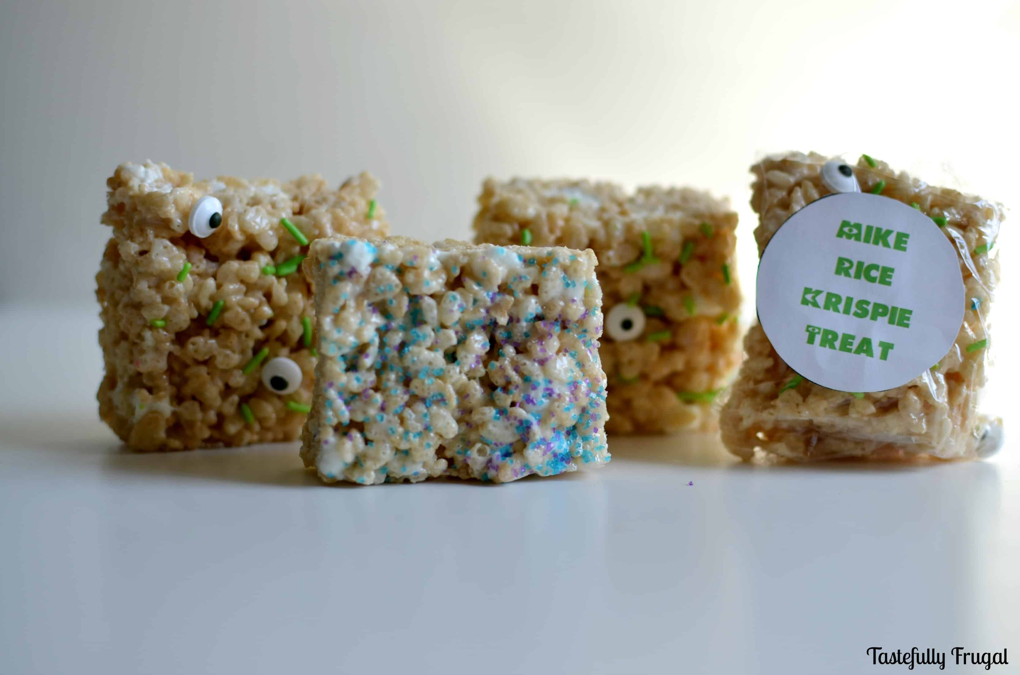 Monster Rice Krispie Treats www.tastefullyfrugal.org