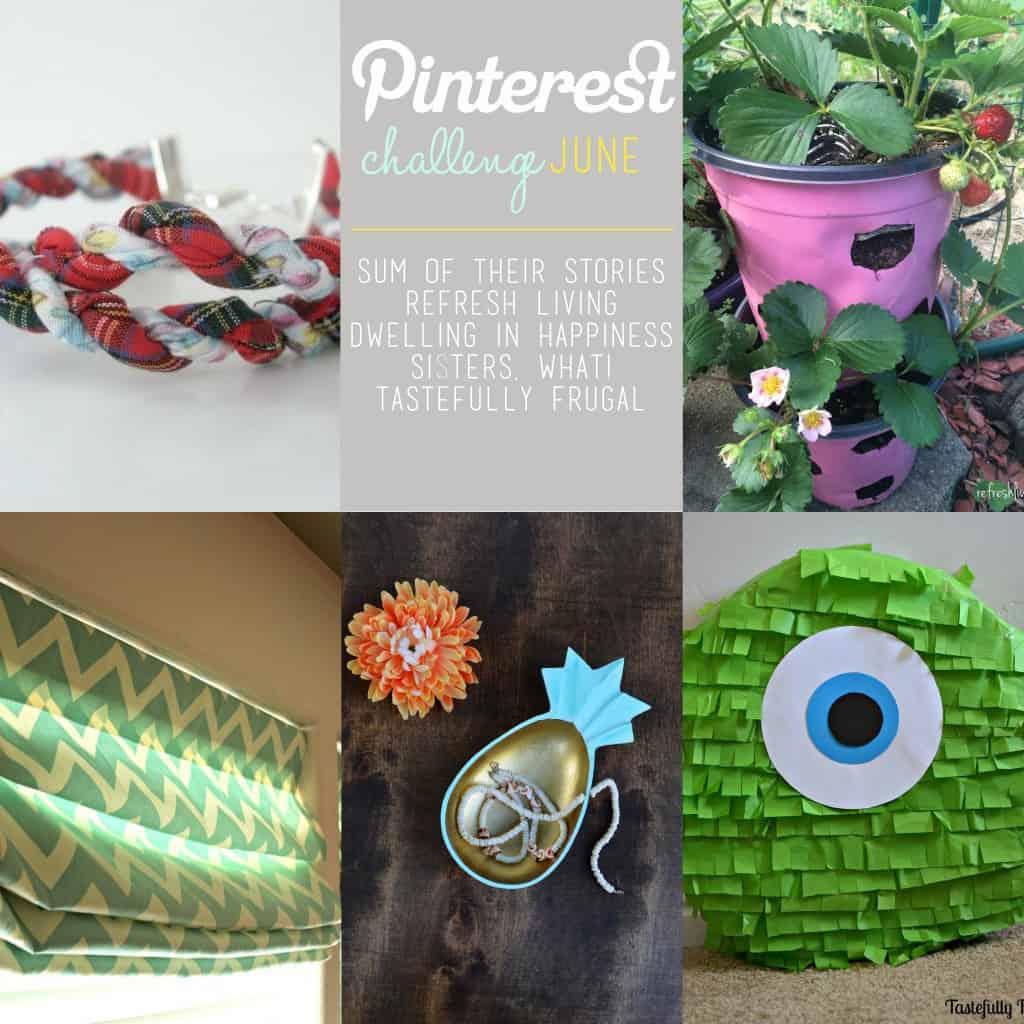 Pinterest Challenge June www.tastefullyfrugal.org