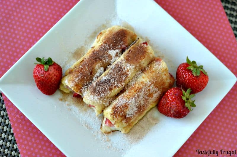 Strawberry French Toast Cannolis
