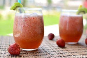 Strawberry Kiwi Agua Fresca www.tastefullyfrugal.org