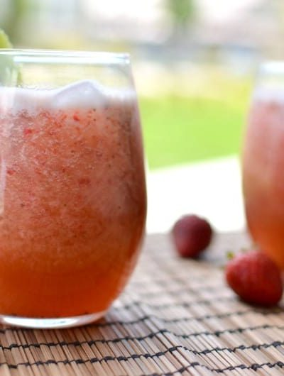 Strawberry Kiwi Agua Fresca www.tastefullyfrugal.org