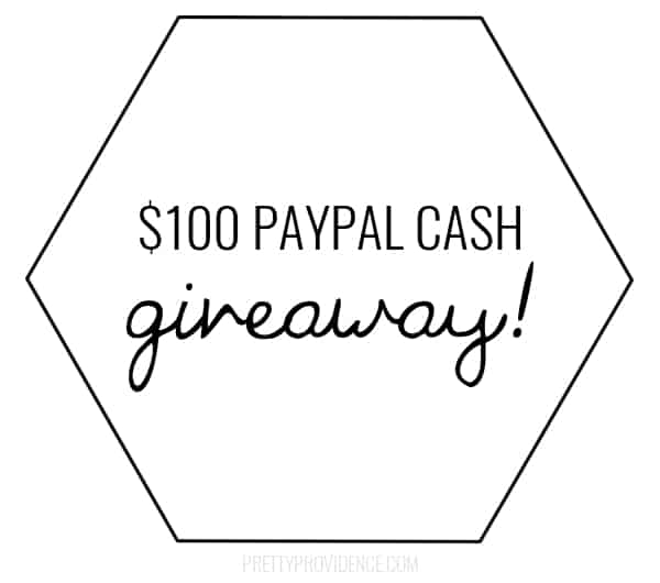 $100 PayPal Cash Giveaway www.tastefullyfrugal.org
