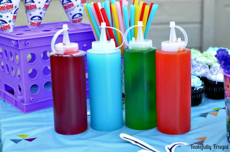 3 Ingredient Snow Cone Syrup www.tastefullyfrugal.org