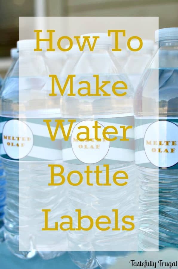 How to make water bottle labels in word for How to make bubbles liquid at home
