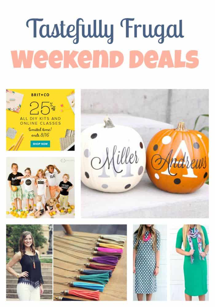 Tastefully Frugal Weekend Deals: Clothes, Crafts and More