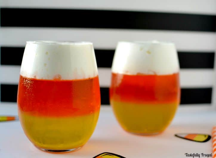 Candy Corn Jello Treats