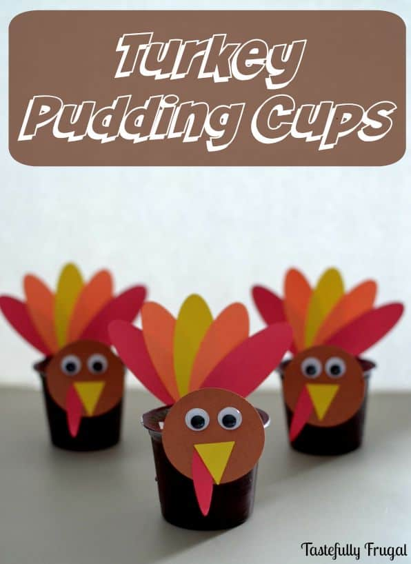 Make snack time fun with these Turkey Pudding Cups #ReadySetSnack ad