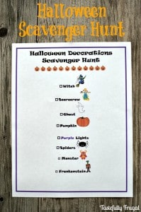 Halloween Scavenger Hunt | Day 8 of Tastefully Frugal's 13 Frightfully Fun Days of Halloween