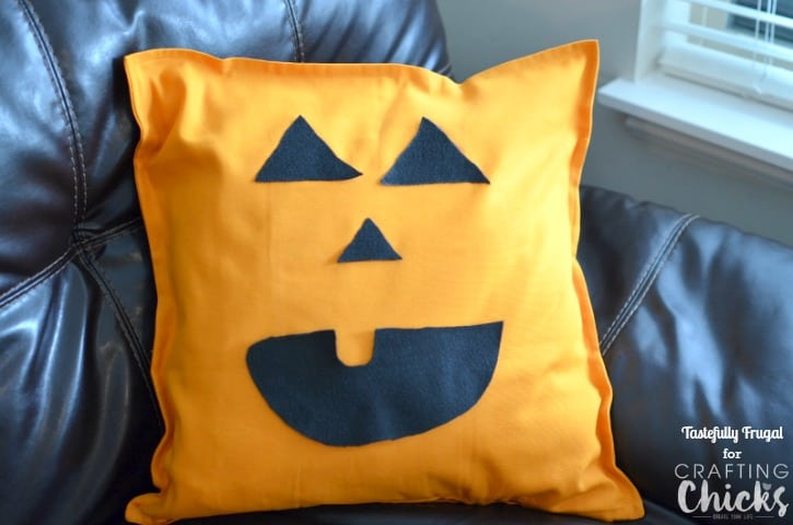 No Sew Jack O Lantern Pillow
