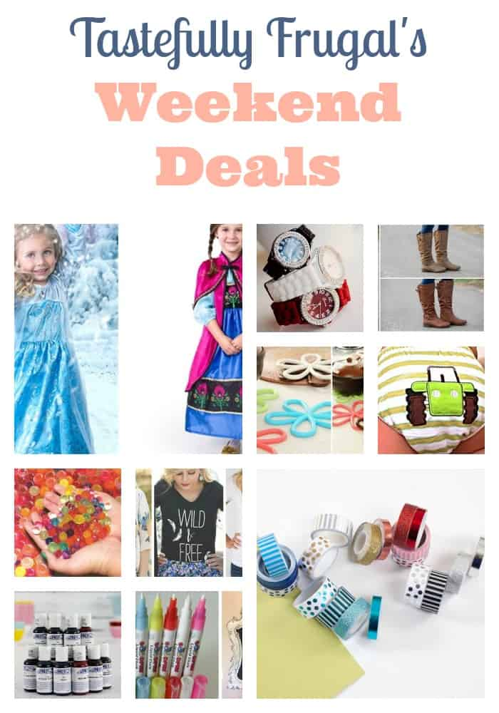Weekend Deals from Tastefully Frugal | Over 50 of the best prices on clothing, accessories, toys, crafts and more!
