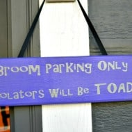 Broom Parking Only Sign