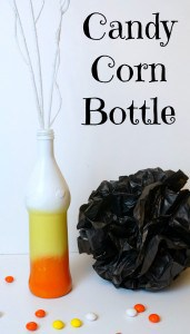 Candy Corn Painted Bottle