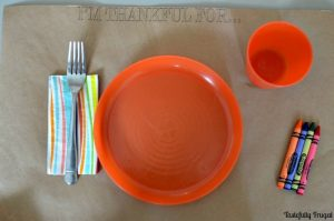 DIY Kids' Thanksgivng Tablescape for $1 | Tastefully Frugal