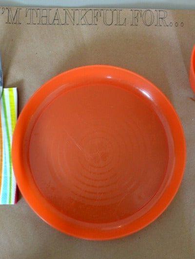 DIY Kids' Thanksgivng Tablescape for $1 | Tastefully Frugal