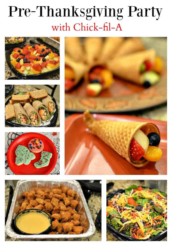 Pre-Thanksgiving Party {AND Fresh Fruit Cornucopia}